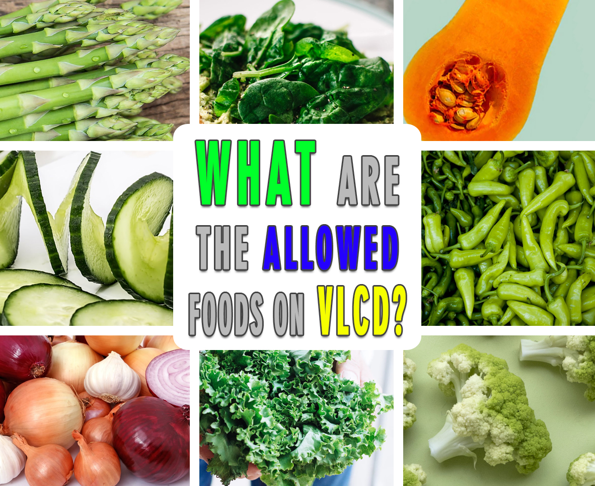 WHAT ARE THE ALLOWED FOODS ON VLCD?
