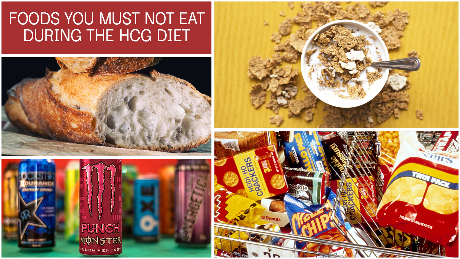 FOODS YOU MUST NOT EAT DURING THE HCG DIET