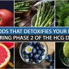 6 FOODS THAT DETOXIFIES YOUR BODY DURING PHASE 2 OF THE HCG DIET